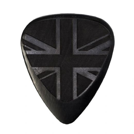 Flag Tones Union Jack African Ebony 1 Guitar Pick